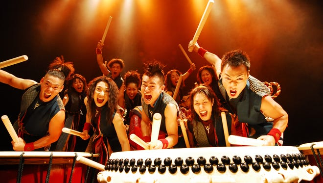 The Japanese percussion group Yamato performs Friday in Burlington.