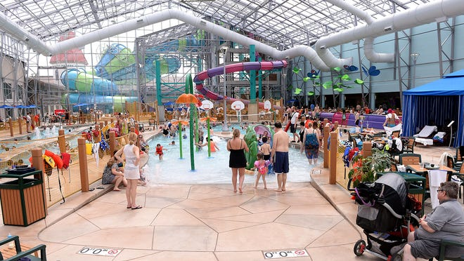 Zehnder's Splash Village recently doubled the size of its waterpark with this glass-enclosed Atrium Waterpark. Kept at a warm 84 degrees, the waterpark offers a lazy river, a faster one that flows up to 8 miles-per-hour, multiple slides and pools.