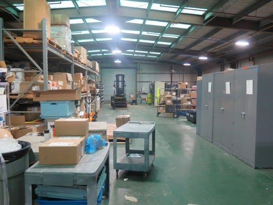 BEFORE: The supply warehouse at Letterkenny Munitions