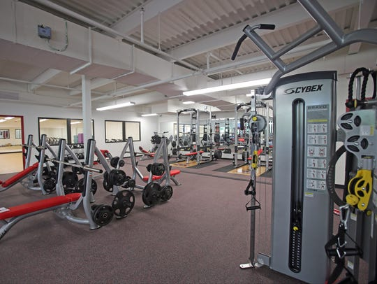 The fitness center at Dominican College's newly renovated