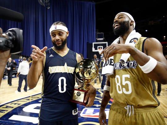 NBA former player Baron Davis and NBA former player