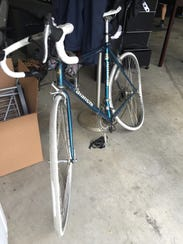 The 1980s Bianchi road bike David Francisco was on