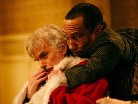 """Billy Bob Thornton (left) and Tony Cox star in """"Bad Santa 2."""""""