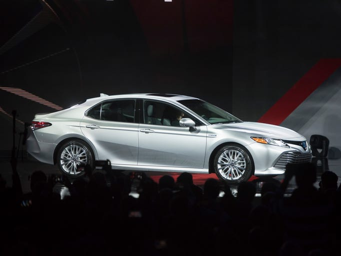 The new XLE version of the 2018 Toyota Camry is unveiled