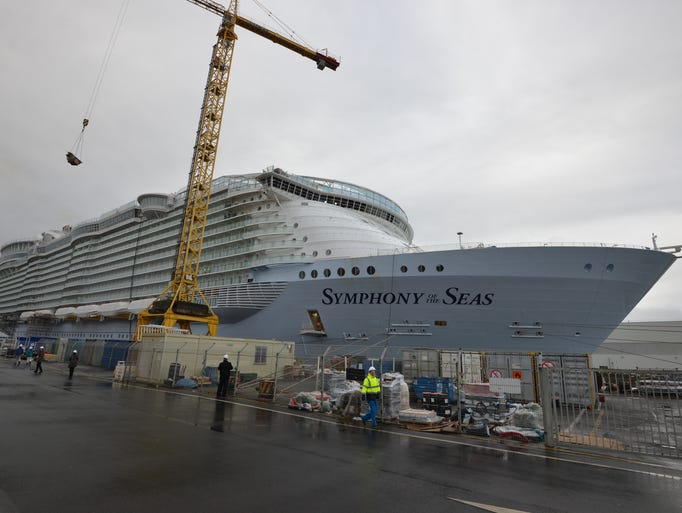 Royal Caribbean's Symphony of the Seas, currently under