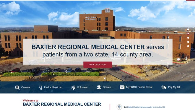 Baxter Regional Medical Center will launch a new website on Tuesday. The site is supposed to make it easier for patients and visitors to find information.