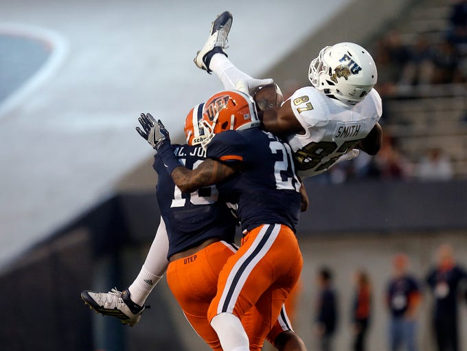 UTEP's Alvin Jones and Dashone Smith combine to level