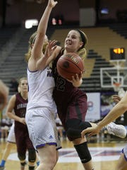 Strafford freshman Hayley Frank (right).