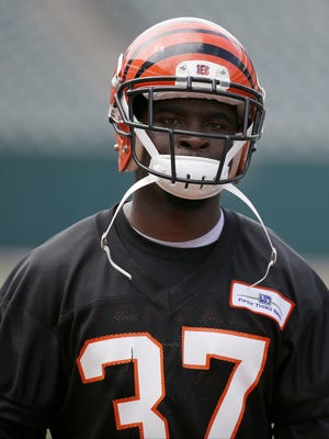 Bengals cornerback Chris Lewis-Harris had an interception at training camp on Sunday.