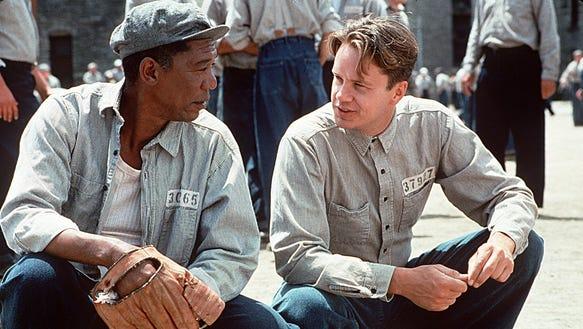 Morgan Freeman, left, and Tim Robbins make the most