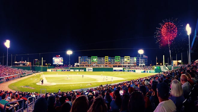 Cooley Law School stadium, home to the Single-A Lansing Lugnuts the last 21 seasons, was originally built to Double-A specifications. The latest additions to the park include apartments overlooking the outfield.
