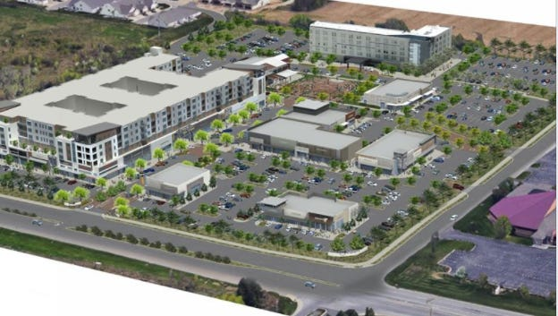 Overhead rendering of The Yard in Fishers