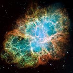 The famous Crab Nebula in Taurus is a supernova remnant.