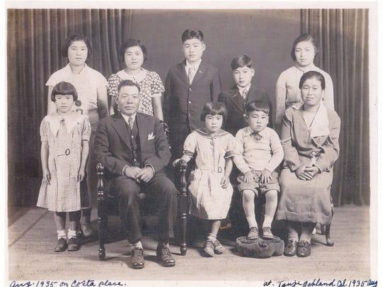The Nemoto family, circa 1935.