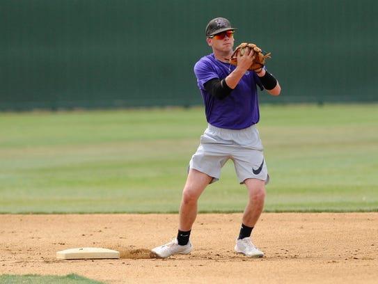 Hardin-Simmons senior shortstop Taylor Cooling comes