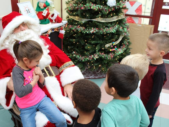 Santa received requests for a football, a gun (just