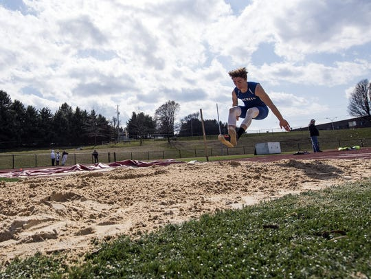 Spring Grove's Colson Martin is coming off a breakout season in which he won a YAIAA long jump title.