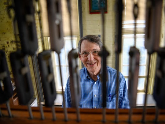 Richard Shadinger will play traditional Christmas music on Belmont Bell Tower's 42-bell carillon Christmas Eve.