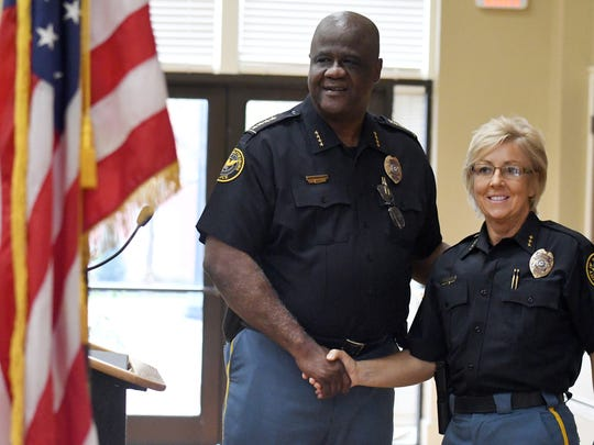 Hattiesburg police Chief Anthony Parker, left, was reappointed in November to another four-year term.