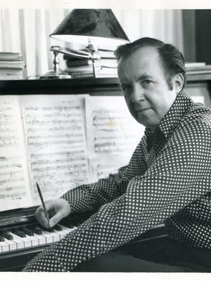 Crawford Gates, the pre-eminent Mormon composer who studied at the Eastman School of Music under Howard Hanson and composed the music for the Hill Cumorah pageant in Palmyra, died June 92018 at age 96.  The photo is believed to date from the late 70's or early 80's.