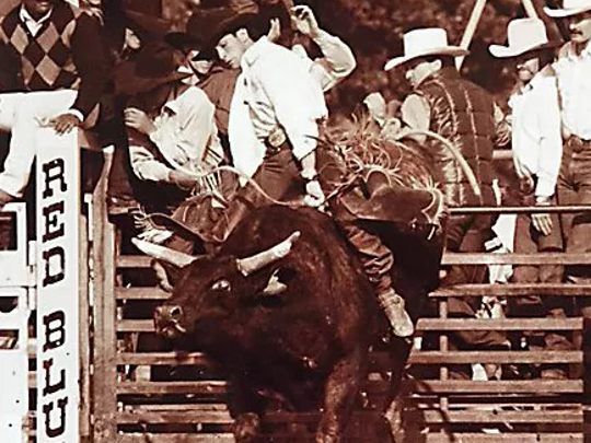 Lane Frost riding Red Rock.