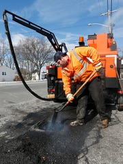 Cle Davis of the Orangetown Highway Department use