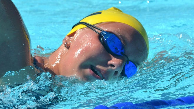 Zeeland's Chelsea Engelsman is one of the top and most versatile swimmers in the state.