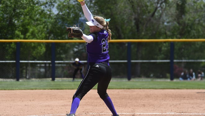 Spanish Springs pitcher Hayley Fein delivers against Rancho during their NIAA state championship game at Hixson Park in Reno on Saturday.