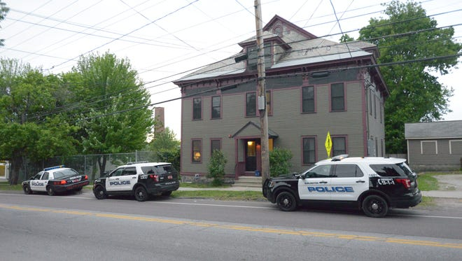 A standoff involving police, mental-health professionals and a distraught woman was unfolding Thursday night, June 9, 2016, at 221 Pine St. in Burlington.