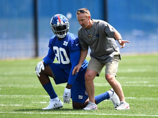 New York Giants defensive end Jason Pierre-Paul works