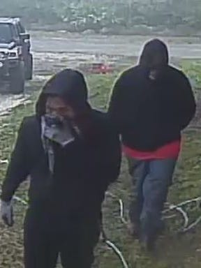 Two of three suspects who took part in a home invasion in Lehigh Acres in early January. Information on them is being sught.