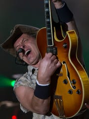 Ted Nugent performs at the Leach Amphitheater on July