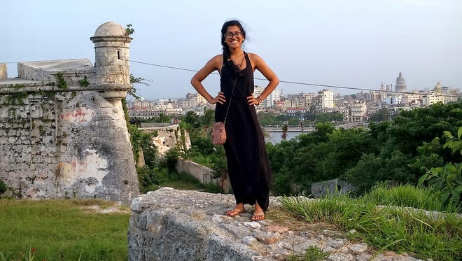 Wayne State University fourth-year student Clarissa Carvalho, who is studying for a  B.A. in Spanish Culture and Literature, with minors in Nutrition and Business, spent three weeks studying in Cuba over the summer.
