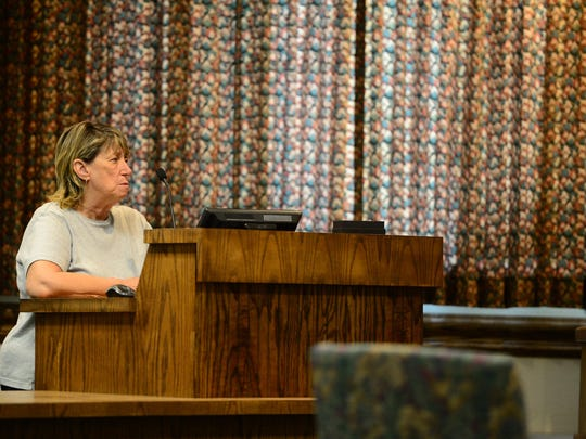 Carol Larkin, Ocean City Resident, speaks to the Ocean