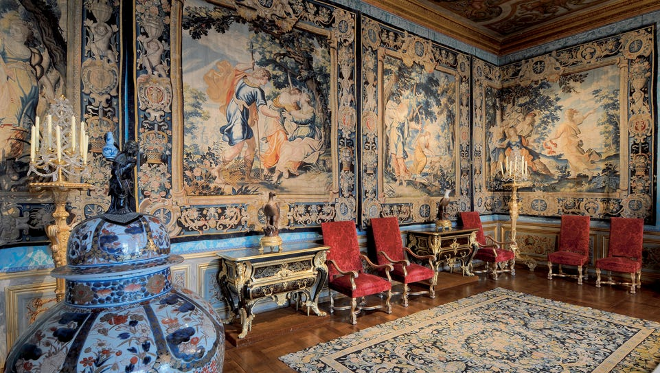 The Muses Chamber was painted in the 17th century by