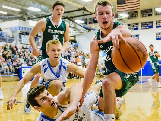 Williamston vs Lansing Catholic Basketball