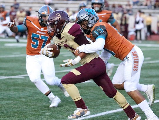 Andress' Diego Lewis, 3, powers his way along as Jaylien