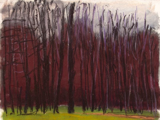 "Wolf Kahn, ""Somber,"" 2013, pastel on paper, 11x13.5""."