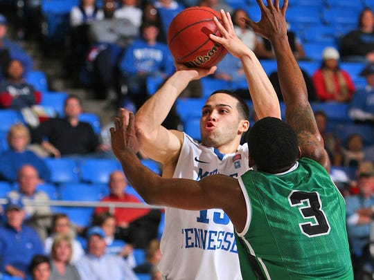 Former MTSU basketball player Raymond Cintron was known for his accurate 3-point shot.