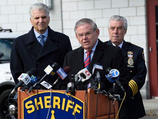 U.S. Senator Bob Menendez, center, with Essex County