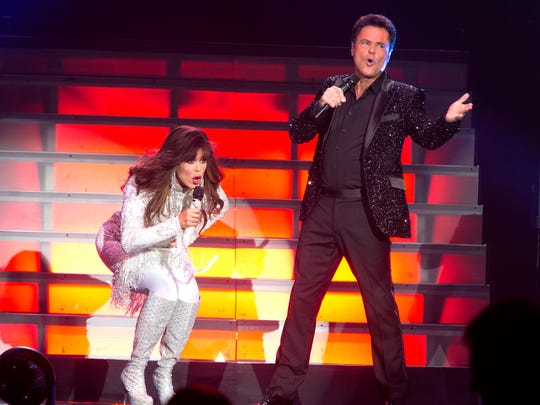 Donny and Marie Osmond have been performing in Las Vegas for 10 years.