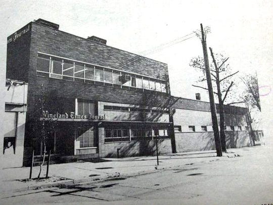 The former Vineland Times Journal Building on Seventh Street as it looked after renovations in 1953. The right wing was acquired in the early 1960s.