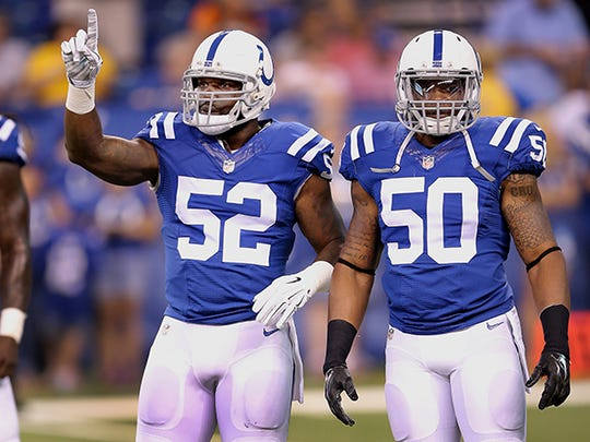 D'Qwell Jackson (left) and Jerrell Freeman (right) form the ILB tandem.