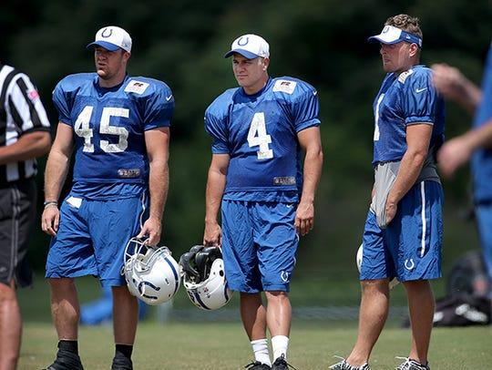From left to right: Matt Overton, Adam Vinatieri and