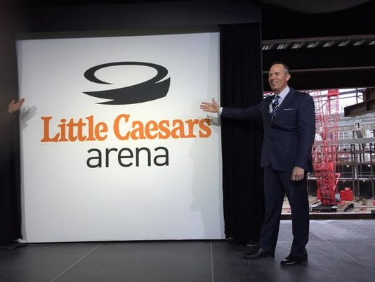 Ilitch unveils new Red Wings arena logo