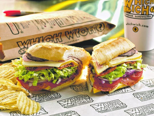 Which Wich | The signature Wicked sandwich includes five meats: turkey, ham, roast beef, pepperoni and bacon. Choose up to three cheeses from options like mozzarella, provolone, American, Cheddar or pepper Jack (small, $7; medium, $10; large, $14). | Details: Westgate Entertainment District, Loop 101 and Glendale Avenue, Glendale. 623-977-9424, whichwich.com.