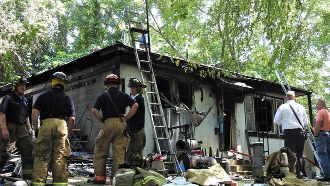 A house on the 300 block of 8th Street was damaged due to a fire on Thursday afternoon. No one was injured in the incident.