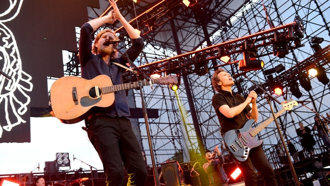 Recording artist Wesley Schultz of music group The Lumineers performs onstage at KROQ Weenie Roast 2016 at Irvine Meadows Amphitheatre on May 14, 2016, in Irvine, Calif. The Lumineers are set to perform at Wells Fargo Arena in Des Moines on March 24, 2017.
