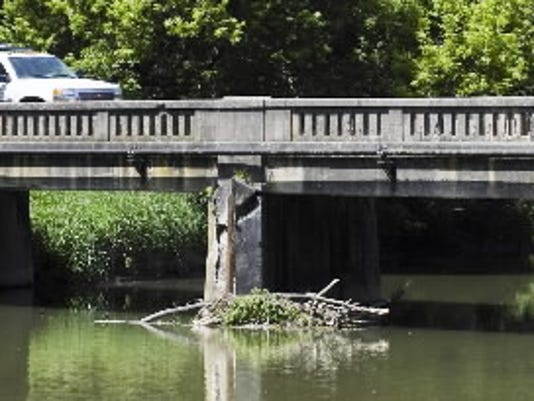 This is the old span that is being replaced on Route 214 in Seven Valleys. Photo was taken by Paul Kuehnel of the York Daily Record/Sunday News.