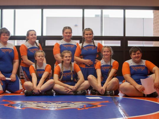 The Water Canyon High School wrestling team practices